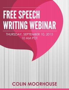Free Speech Writing Webinar